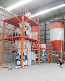 天成地产年产20万吨全自动砂浆生产线