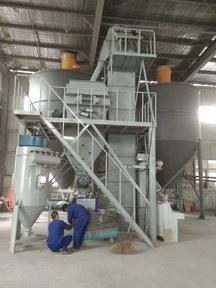 浙江长兴自动化干粉砂浆生产线