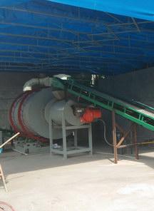 浙江温岭天然气时产10吨砂子烘干机