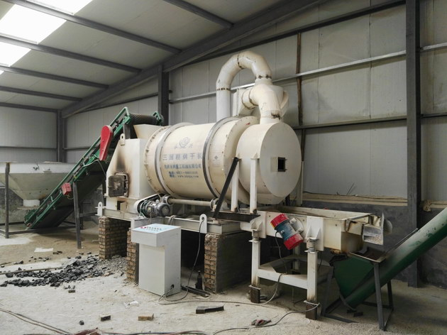 时产5吨砂子烘干机现场