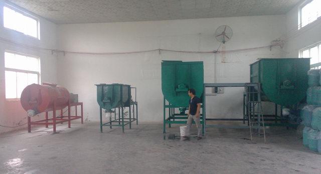 真石漆生产设备现场