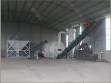 时产10-15吨三回程烘干机现场